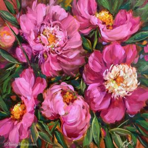 Pink Dancer Peonies 20X20