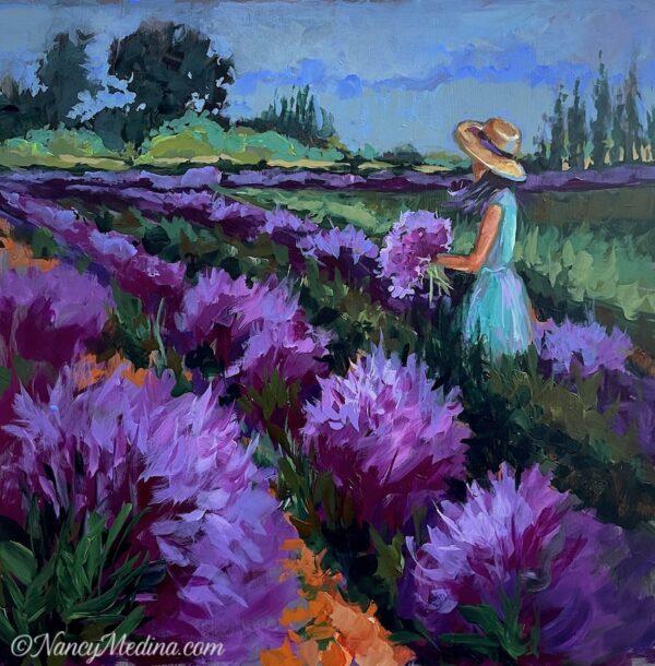 Lavender Girl 16X16