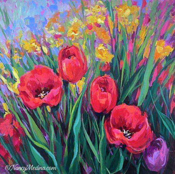 Sunny Day Tulips 20X20