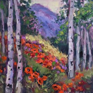 Aspen Dreams and Poppy Fields 12X12