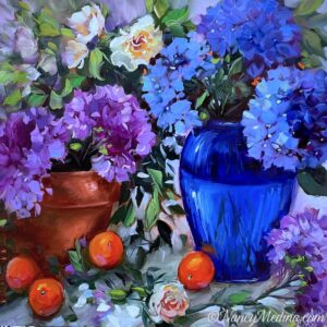 TJB Hydrangeas and Cuties 20X20