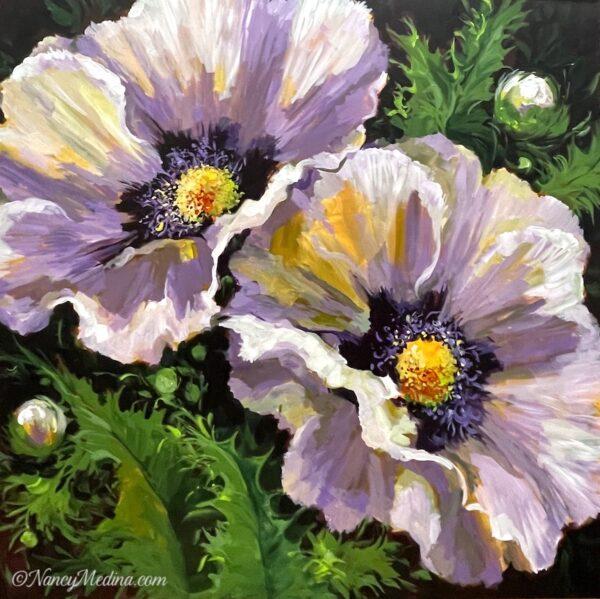Bee Buffet Poppy Garden 36X36