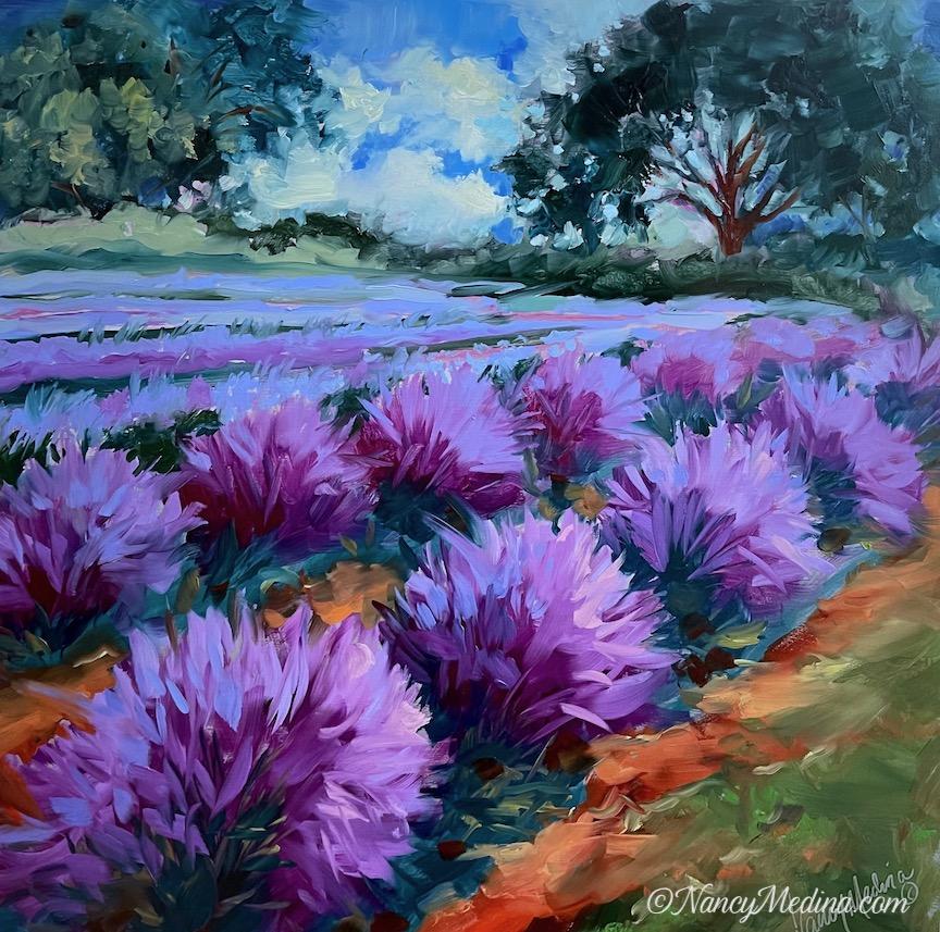 TJB lavender and live oaks