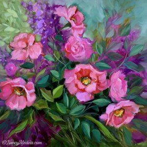 TJB pink rose garden 20X20