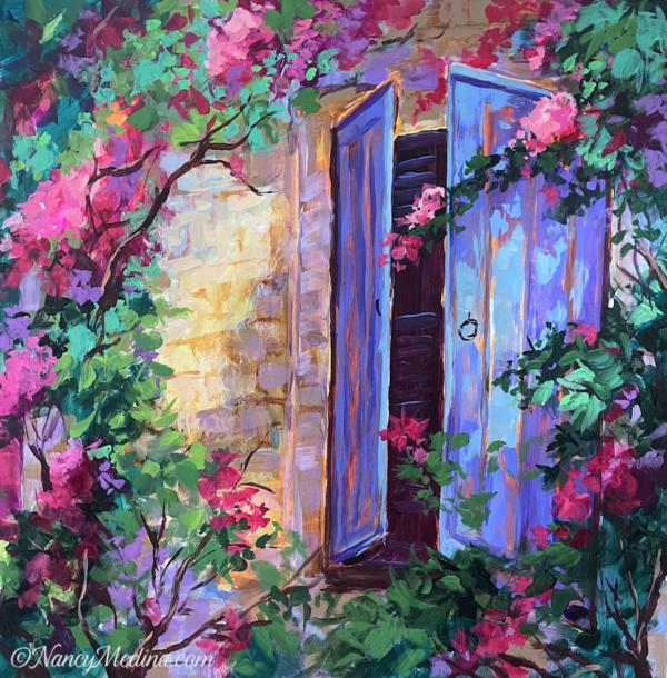 French Blue Window sm 16X16