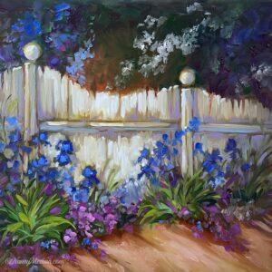 A Little Blue Fence 12X12