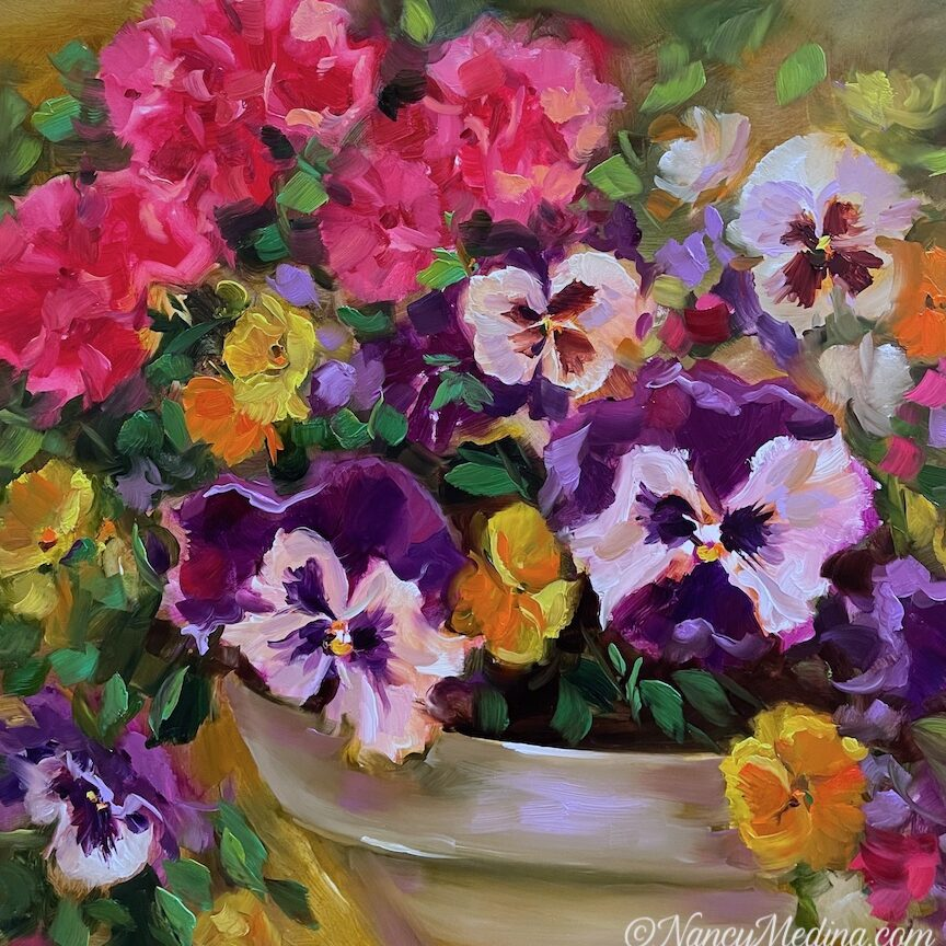 Love Stored Up Pansies