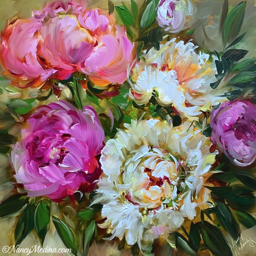 Sweet Home Peonies 16X16 2